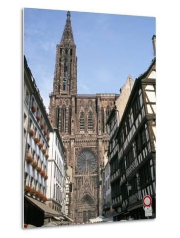 Gothic Christian Cathedral Dating from the 12th to 15th Centuries, Strasbourg, Alsace, France-Geoff Renner-Metal Print