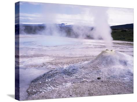 Hverquellir Geothermal Area, Interior Highlands, Iceland, Polar Regions-Geoff Renner-Stretched Canvas Print