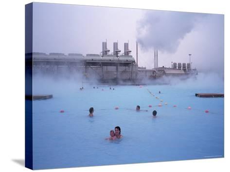 Geothermal Bathing, Blue Lagoon, Reykjanes Peninsula, Iceland, Polar Regions-Geoff Renner-Stretched Canvas Print