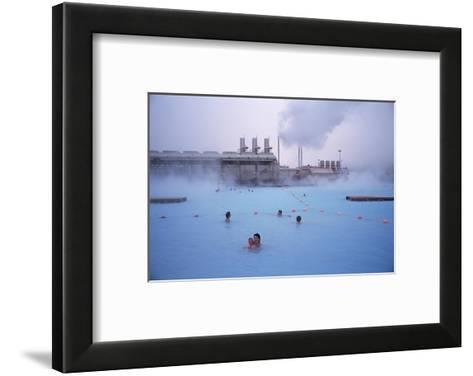 Geothermal Bathing, Blue Lagoon, Reykjanes Peninsula, Iceland, Polar Regions-Geoff Renner-Framed Art Print