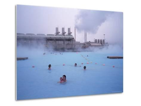 Geothermal Bathing, Blue Lagoon, Reykjanes Peninsula, Iceland, Polar Regions-Geoff Renner-Metal Print