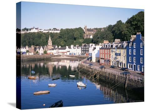 Harbour and Main Street, Tobermory, Island of Mull, Argyllshire, Inner Hebrides, Scotland-Geoff Renner-Stretched Canvas Print