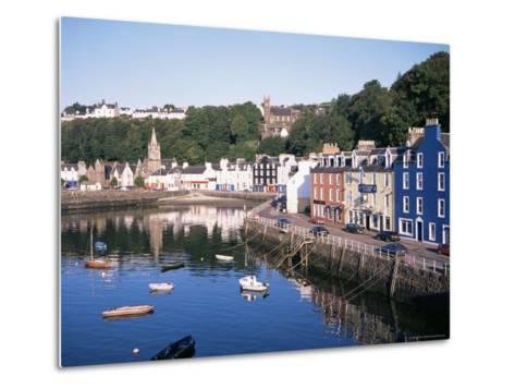Harbour and Main Street, Tobermory, Island of Mull, Argyllshire, Inner Hebrides, Scotland-Geoff Renner-Metal Print