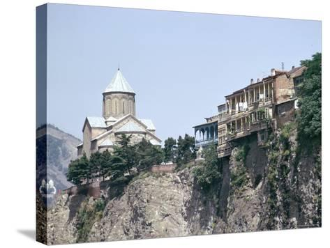 Metekhi Church, Tbilisi, Georgia, Central Asia-Sybil Sassoon-Stretched Canvas Print