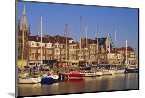 Boats and Harbour, Ostend, Belgium-Jenny Pate-Mounted Photographic Print