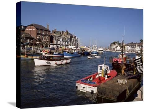 Weymouth Harbour, Dorset, England, United Kingdom-Jenny Pate-Stretched Canvas Print