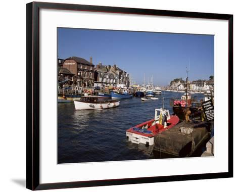 Weymouth Harbour, Dorset, England, United Kingdom-Jenny Pate-Framed Art Print
