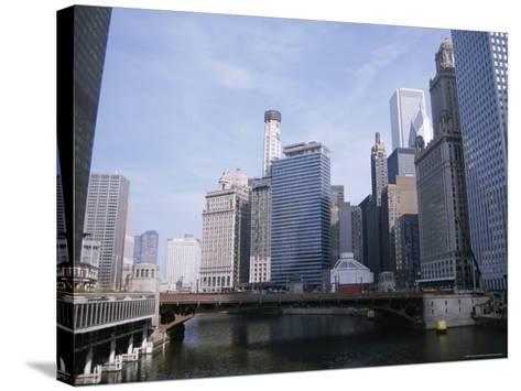 State Street Bridge Over Chicago River, Chicago, Illinois, USA-Jenny Pate-Stretched Canvas Print
