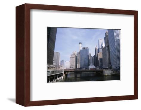 State Street Bridge Over Chicago River, Chicago, Illinois, USA-Jenny Pate-Framed Art Print