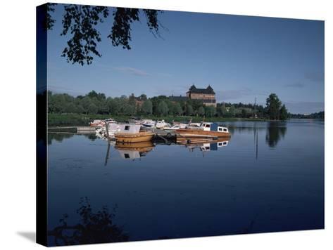 Hame Castle and Lake Vanajavesi, Hameenlinna, Finland, Scandinavia-Jenny Pate-Stretched Canvas Print