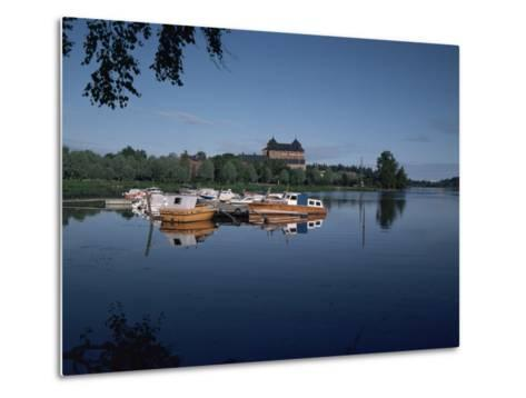 Hame Castle and Lake Vanajavesi, Hameenlinna, Finland, Scandinavia-Jenny Pate-Metal Print