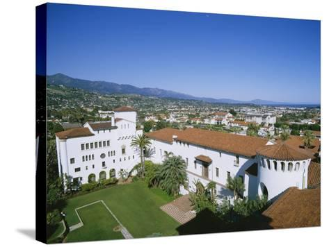 View Over Courthouse Towards the Ocean, Santa Barbara, California, USA-Adrian Neville-Stretched Canvas Print