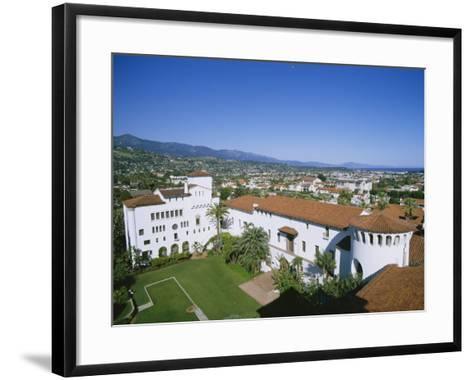 View Over Courthouse Towards the Ocean, Santa Barbara, California, USA-Adrian Neville-Framed Art Print