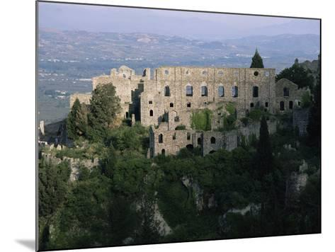 Palace of the Despots and the Plain of Sparta Below, Mistra, Greece-Adrian Neville-Mounted Photographic Print