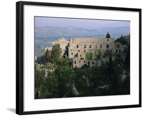 Palace of the Despots and the Plain of Sparta Below, Mistra, Greece-Adrian Neville-Framed Art Print