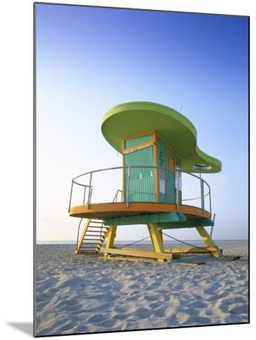 Lifeguard Hut in Art Deco Style, South Beach, Miami Beach, Miami, Florida, USA-Gavin Hellier-Mounted Photographic Print