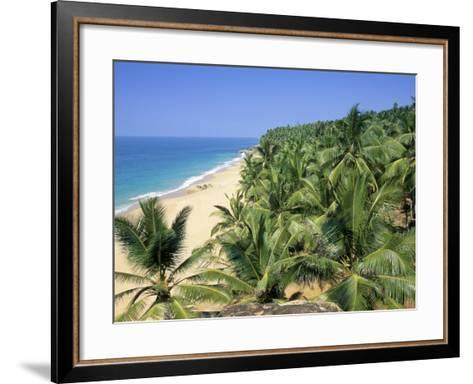 Beach and Coconut Palms, Kovalam Beach, Kerala State, India-Gavin Hellier-Framed Art Print