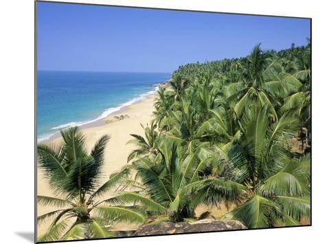 Beach and Coconut Palms, Kovalam Beach, Kerala State, India-Gavin Hellier-Mounted Photographic Print