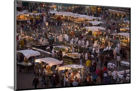 Food Stalls in the Evening, Djemaa El Fna, Marrakesh, Morocco, North Africa, Africa-Gavin Hellier-Mounted Photographic Print