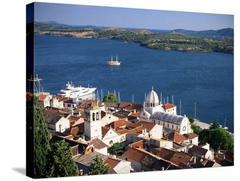 View Over the Old Town and Cathedral of St. Jacob, Sibenik, Knin Region, Dalmatia, Croatia-Gavin Hellier-Stretched Canvas Print