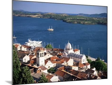 View Over the Old Town and Cathedral of St. Jacob, Sibenik, Knin Region, Dalmatia, Croatia-Gavin Hellier-Mounted Photographic Print