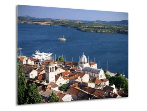View Over the Old Town and Cathedral of St. Jacob, Sibenik, Knin Region, Dalmatia, Croatia-Gavin Hellier-Metal Print