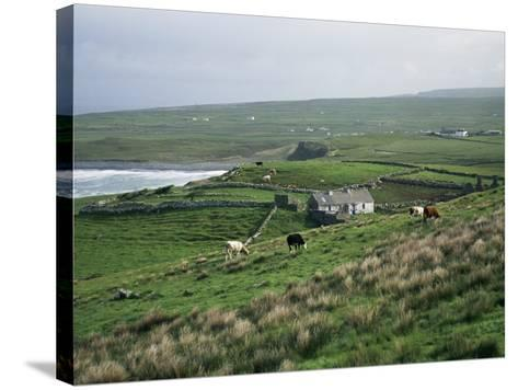 View Towards Doolin Over Countryside, County Clare, Munster, Eire (Republic of Ireland)-Gavin Hellier-Stretched Canvas Print