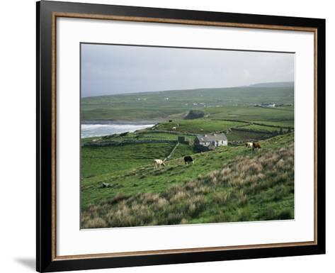 View Towards Doolin Over Countryside, County Clare, Munster, Eire (Republic of Ireland)-Gavin Hellier-Framed Art Print