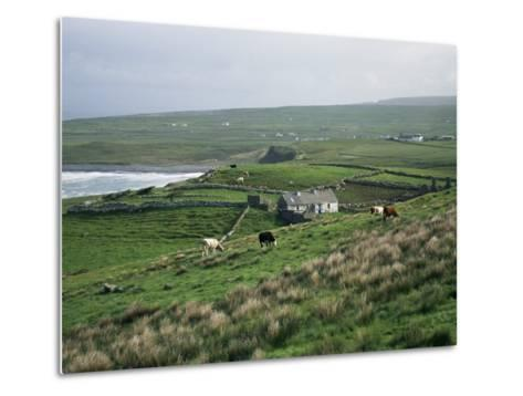 View Towards Doolin Over Countryside, County Clare, Munster, Eire (Republic of Ireland)-Gavin Hellier-Metal Print
