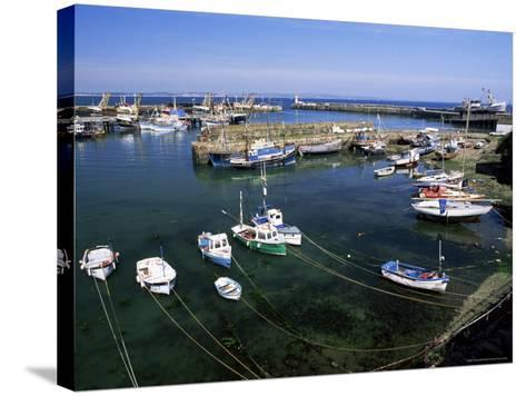 Harbour and Fishing Fleet, Penzance, Cornwall, England, United Kingdom-Gavin Hellier-Stretched Canvas Print