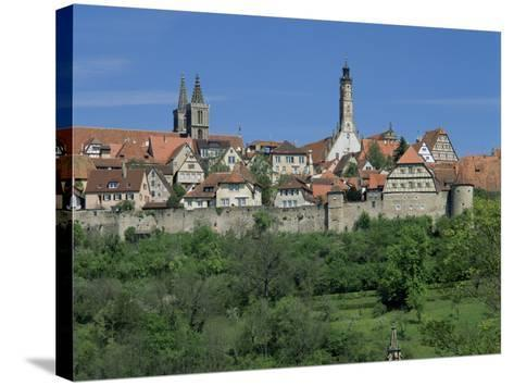 Rothenburg Ob Der Tauber, 'The Romantic Road', Bavaria, Germany-Gavin Hellier-Stretched Canvas Print