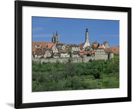 Rothenburg Ob Der Tauber, 'The Romantic Road', Bavaria, Germany-Gavin Hellier-Framed Art Print