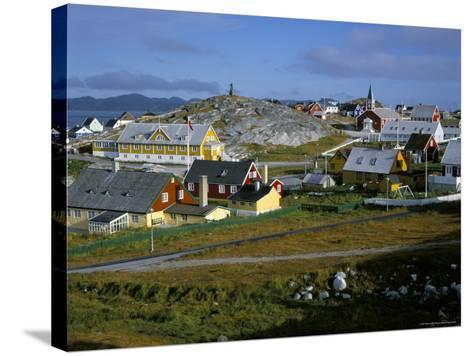 Our Saviour's Church and Jonathon Petersen Memorial, Nuuk (Godthab), Greenland, Polar Regions-Gavin Hellier-Stretched Canvas Print