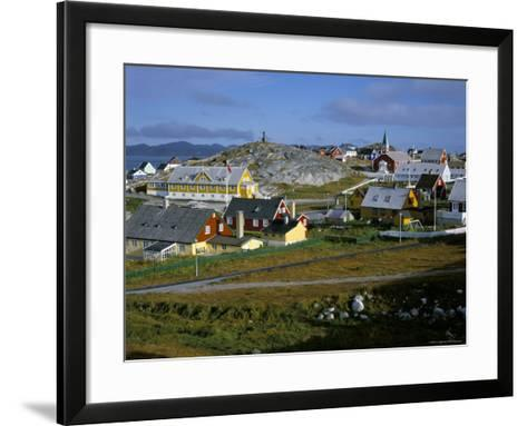 Our Saviour's Church and Jonathon Petersen Memorial, Nuuk (Godthab), Greenland, Polar Regions-Gavin Hellier-Framed Art Print