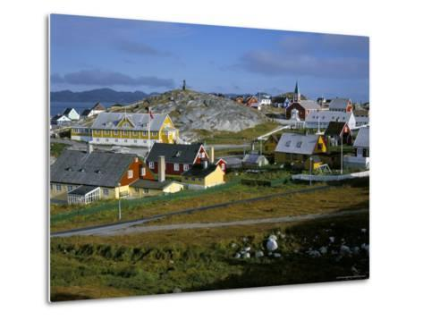 Our Saviour's Church and Jonathon Petersen Memorial, Nuuk (Godthab), Greenland, Polar Regions-Gavin Hellier-Metal Print
