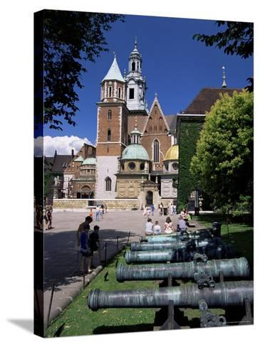 Wawel Cathedral and Castle, Krakow, Makopolska, Poland-Gavin Hellier-Stretched Canvas Print