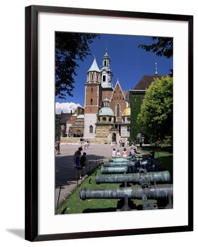 Wawel Cathedral and Castle, Krakow, Makopolska, Poland-Gavin Hellier-Framed Art Print