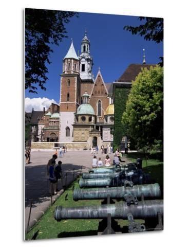 Wawel Cathedral and Castle, Krakow, Makopolska, Poland-Gavin Hellier-Metal Print