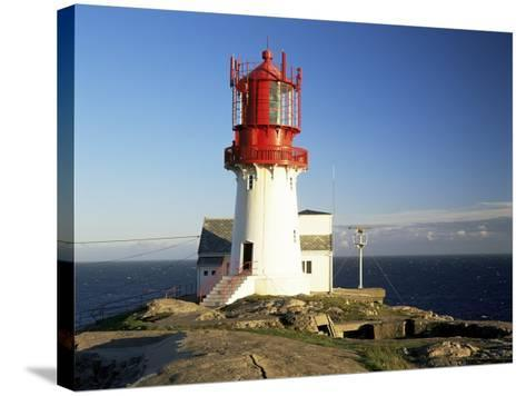 Lindesnes Fyr Lighthouse, on South Coast, Southernmost Point of Norway, Norway, Scandinavia-Gavin Hellier-Stretched Canvas Print