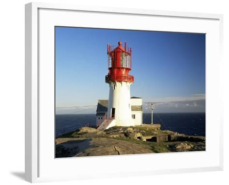 Lindesnes Fyr Lighthouse, on South Coast, Southernmost Point of Norway, Norway, Scandinavia-Gavin Hellier-Framed Art Print
