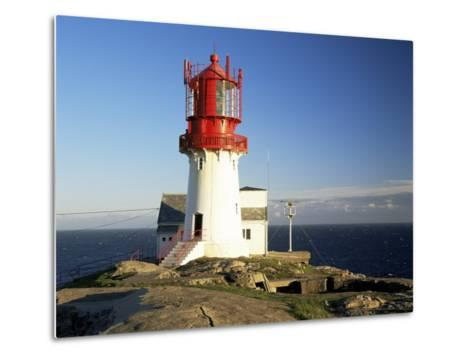 Lindesnes Fyr Lighthouse, on South Coast, Southernmost Point of Norway, Norway, Scandinavia-Gavin Hellier-Metal Print