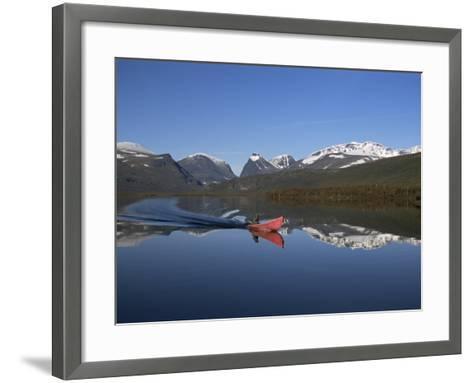 Mount Kebnekaise, Sweden's Highest, Laponia, Unesco World Heritage Site, Lappland, Sweden-Gavin Hellier-Framed Art Print