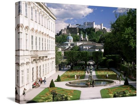 Mirabell Gardens and the Old City, Unesco World Heritage Site, Salzburg, Austria-Gavin Hellier-Stretched Canvas Print