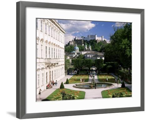 Mirabell Gardens and the Old City, Unesco World Heritage Site, Salzburg, Austria-Gavin Hellier-Framed Art Print