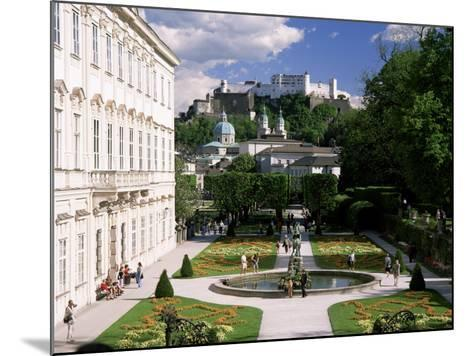Mirabell Gardens and the Old City, Unesco World Heritage Site, Salzburg, Austria-Gavin Hellier-Mounted Photographic Print
