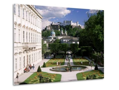 Mirabell Gardens and the Old City, Unesco World Heritage Site, Salzburg, Austria-Gavin Hellier-Metal Print