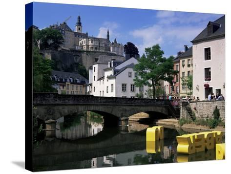 Old City and River, Luxembourg City, Luxembourg-Gavin Hellier-Stretched Canvas Print