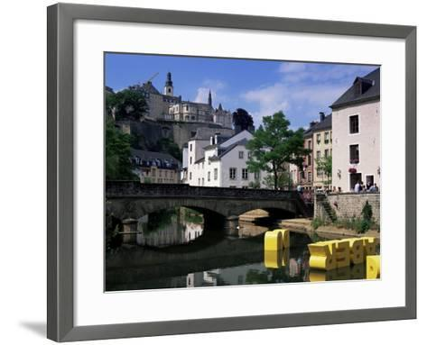 Old City and River, Luxembourg City, Luxembourg-Gavin Hellier-Framed Art Print
