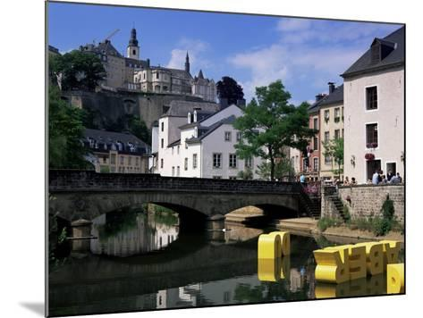 Old City and River, Luxembourg City, Luxembourg-Gavin Hellier-Mounted Photographic Print