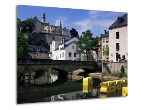 Old City and River, Luxembourg City, Luxembourg-Gavin Hellier-Metal Print